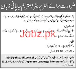 Translator Job in Pak Suzuki Motor Company Limited