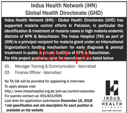 Manager Training Job in Indus Health
