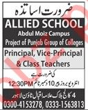 Allied School Abdul Moiz Campus Lahore Jobs 2019