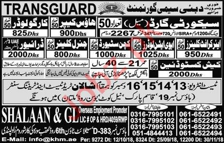 House Keeper, Cargo Loader & Aircraft Cleaner Jobs 2019