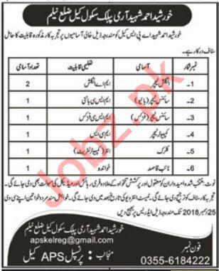 Khurshid Ahmad Shaheed APS Schools Jhelum AJK Jobs 2019