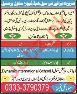 Dynamic International School Jobs 2019 in Abbottabad KPK