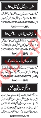 Nawaiwaqt Newspaper Classified Ads 2019 In Lahore