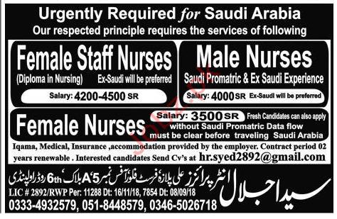 Staff Nurse Jobs in Saudi Arabia