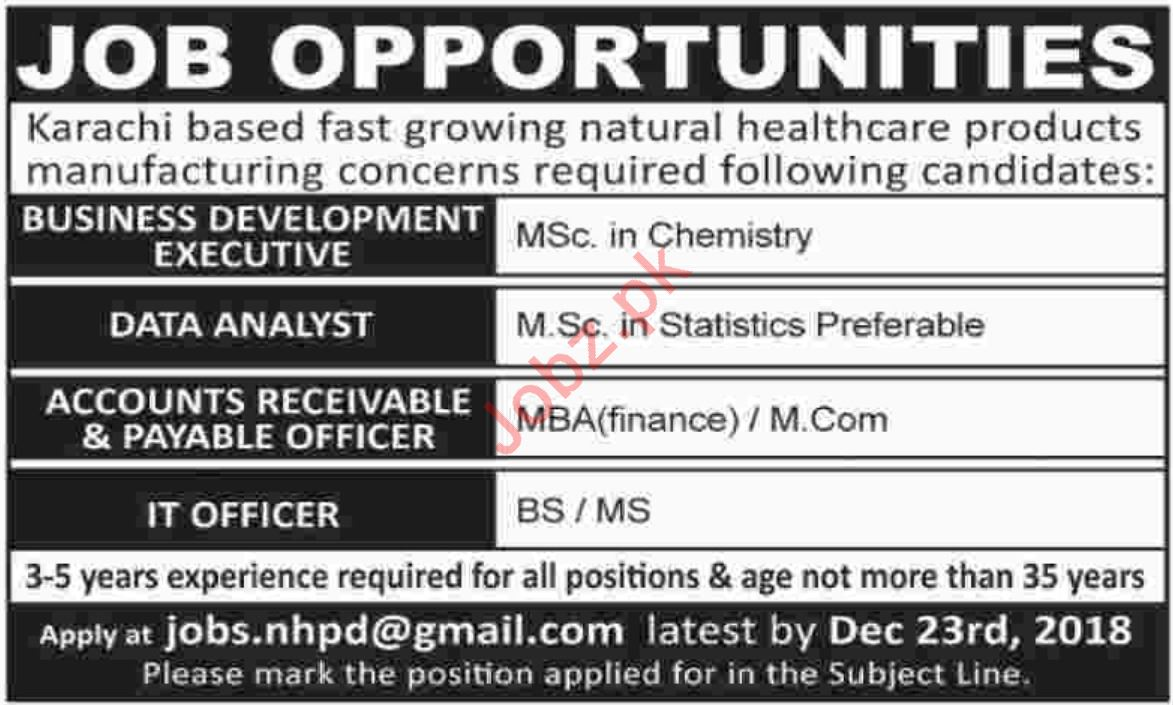 Business Development Executive Jobs At Manufacturing Company 2019