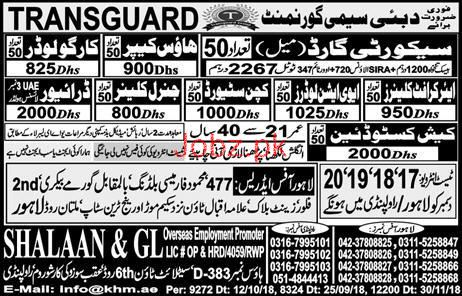 Cleaner, Loader, Security Guard, Driver Job Opportunity