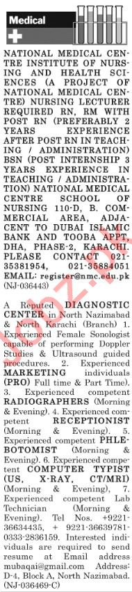 The News Sunday Classified Ads 16th Dec 2018 Medical Staff