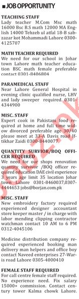 The Nation Newspaper Classified Jobs 2019 For Lahore