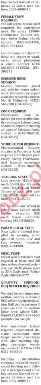 The Nation Newspaper Classified Ads 2019 In Lahore 2019 Job