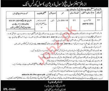 District & Session Judge Office Sweeper Jobs 2019