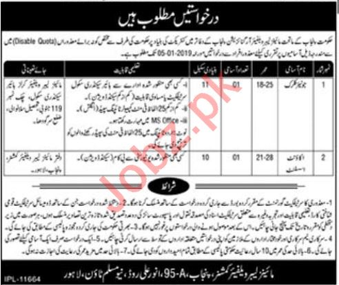 Mines Labour Welfare Organization Lahore Jobs 2019