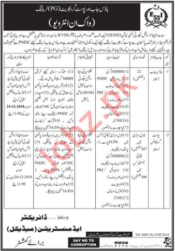 Sindh Employees Social Security Institute SESSI Jobs 2019