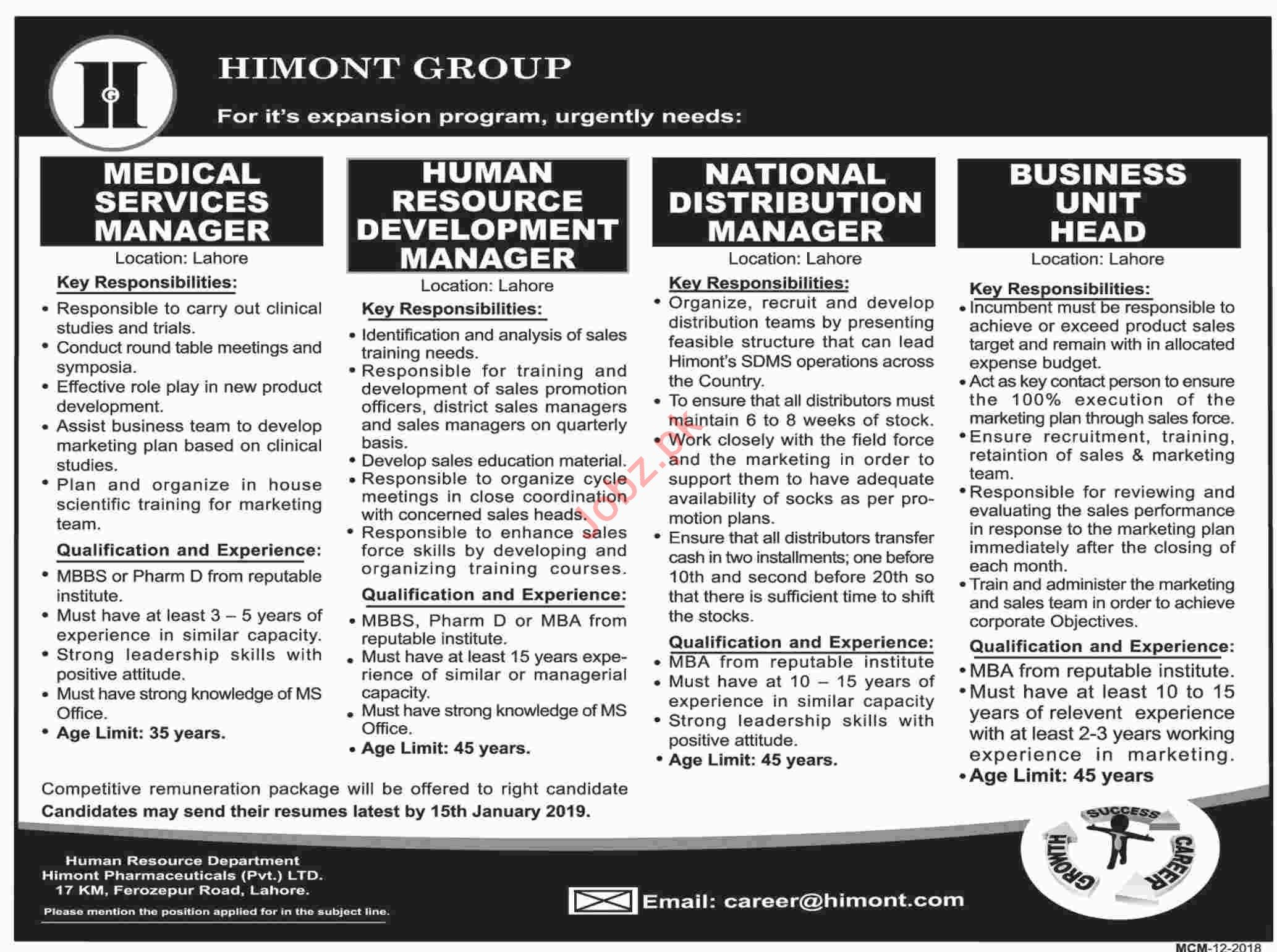 Himont Group Medical Service Manager Jobs