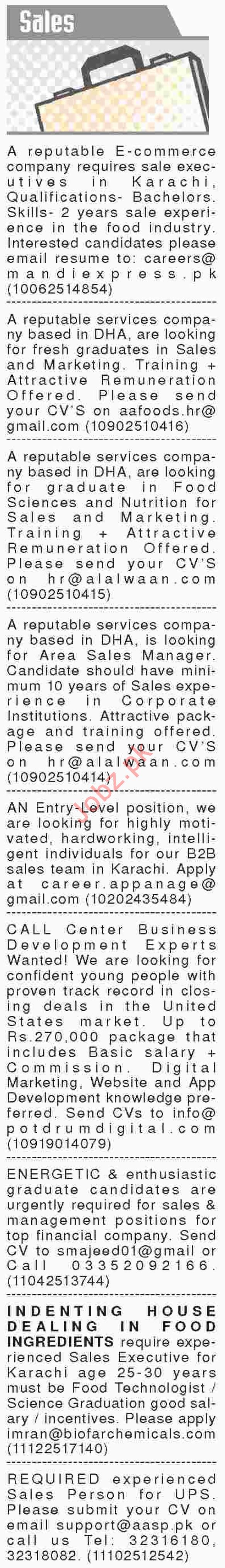 Dawn Sunday Newspaper Sales Classified Ads 23/12/2018