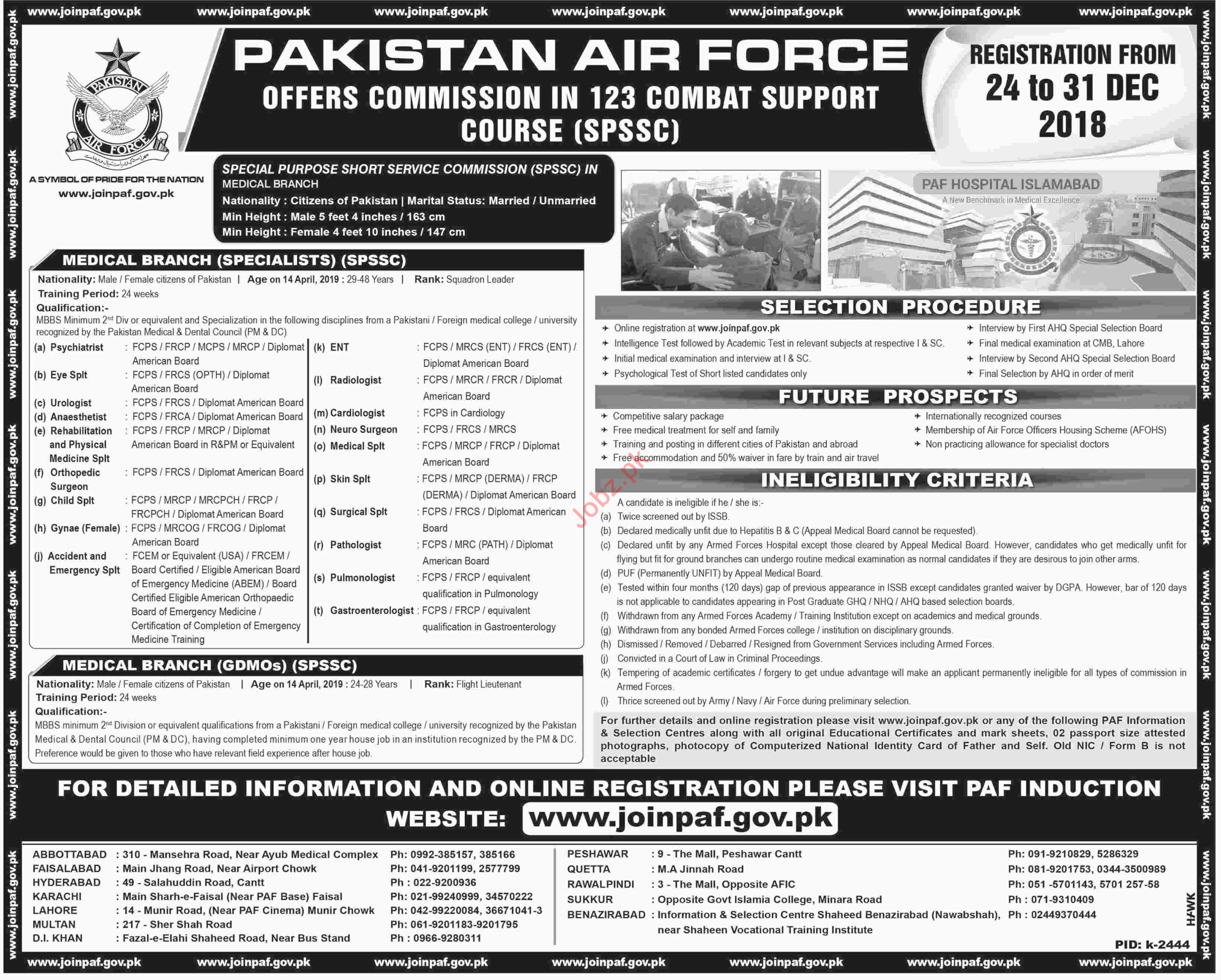 Join Pakistan Air Force as Commission 123 Combat Course