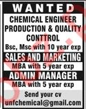 Chemical Engineer Production Jobs