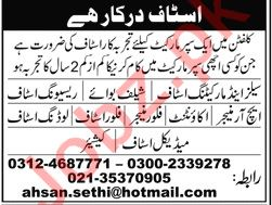 Sales and Marketing Staff Required for Super Market