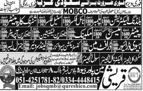 Building Electrician, Tile Fixer, HTV Driver Job Opportunity
