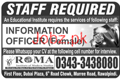 Female Information Officer Job in An Educational Institute