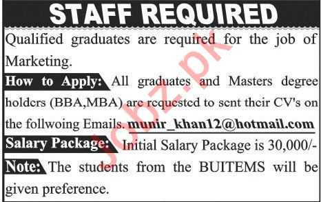 Marketing Jobs 2019 in Quetta Balochistan
