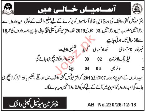 Leading Fireman Jobs in Municipal Committeee