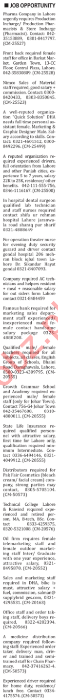 The Nation Newspaper Classified Jobs 2019 In Karachi