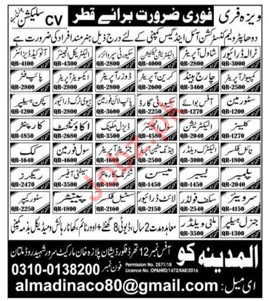 Doha Petroleum Construction Oil & Gas Company Jobs 2019