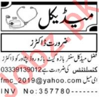 Medical Job 2019 in Peshawar KPK 2019 Job Advertisement Pakistan