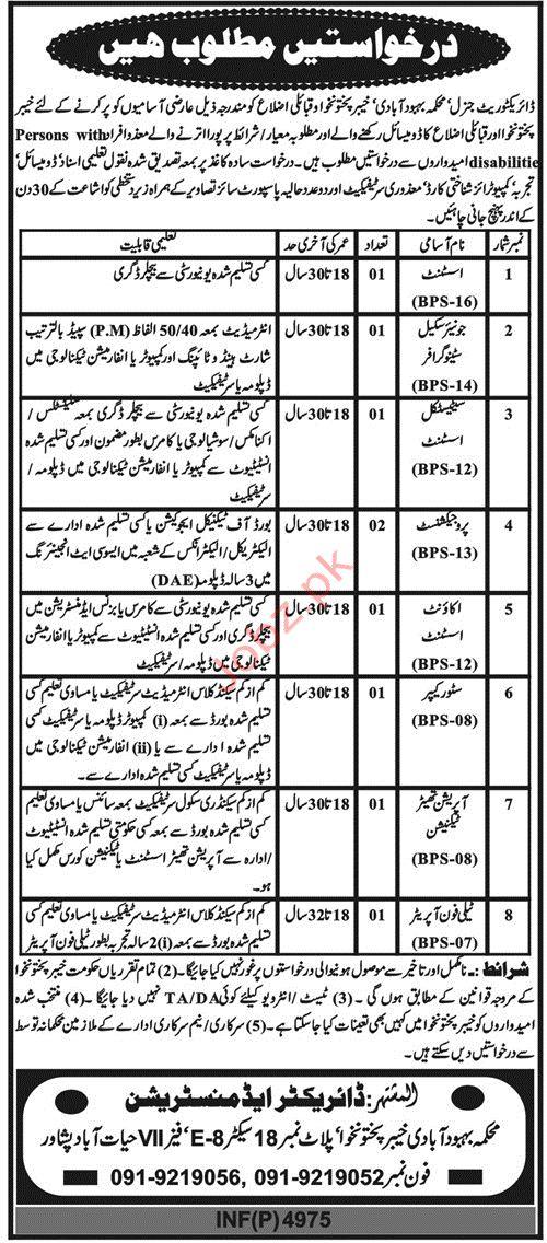Directorate Population Welfare Department Assistant Jobs