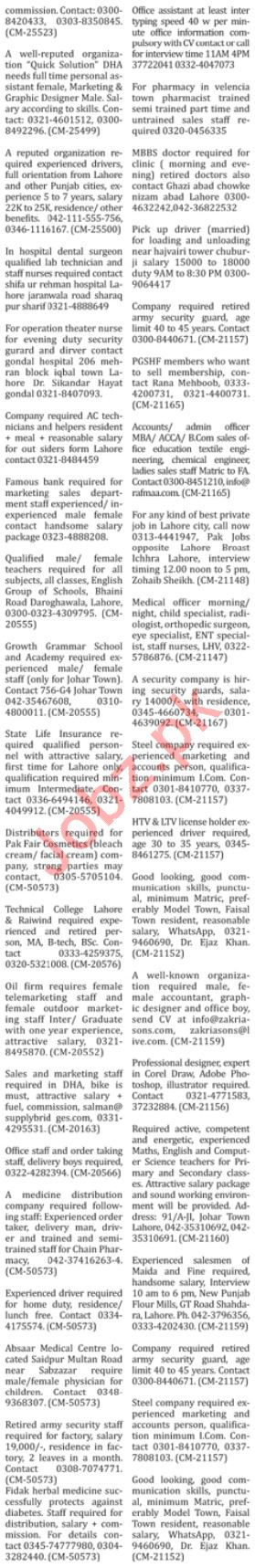 The Nation Sunday Newspaper Classified Ads 30/12/2018
