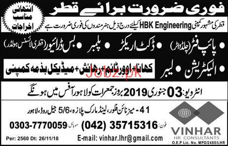 Pipe Fitter, Plumber, HTV Driver, Electrician Wanted