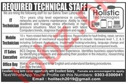 IT Technician Jobs at Holistic Healthcare Private Limited