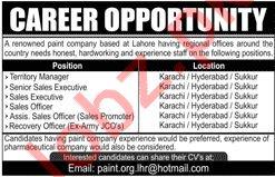 Paint Company Jobs 2019 in Karachi, Hyderabad & Sukkur