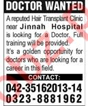 Doctor Jobs at  Hair Transplant Clinic