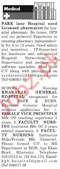 The News Sunday Classified Ads 30th Dec 2018 Medical Staff
