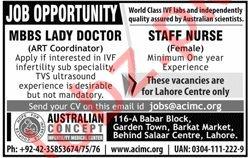 ACIMC MBBS Lady Doctor Jobs