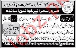 Azha Maryam School Female Teaching Jobs 2019 in Karachi