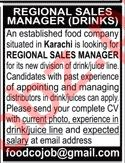 Regional Sales Manager Job 2019 in Karachi