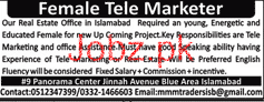 Female Tele Marketers Job Opportunity