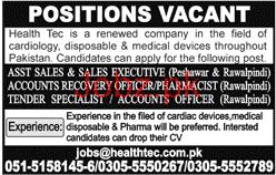Sales Executives, Accountant Job Opportunity