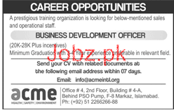 Business Development Officer Job Opportunity