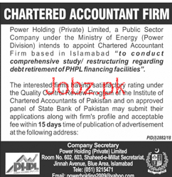 Chartered Accountant Job in Power Holding Private Limited