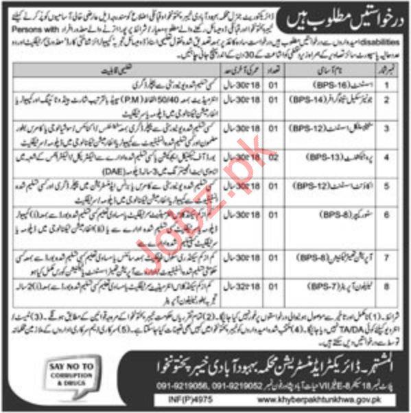 Directorate General Population Welfare Department Jobs 2019