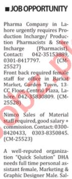 Daily Nation Classified Ads 31st Dec 2018