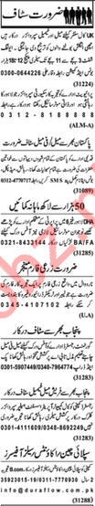 Nawaiwaqt Newspaper Classified Jobs 2019 In Lahore