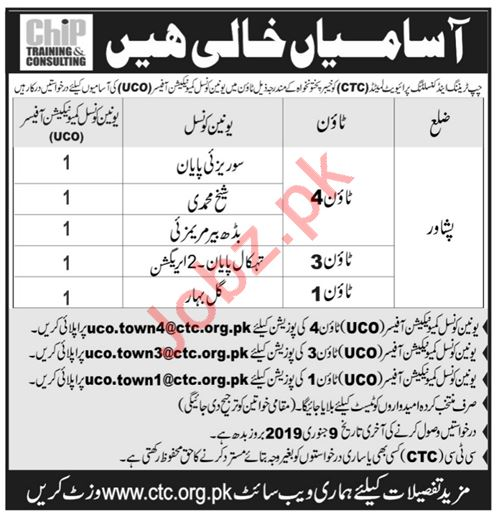 CHIP Training & Consulting Peshawar Jobs 2019
