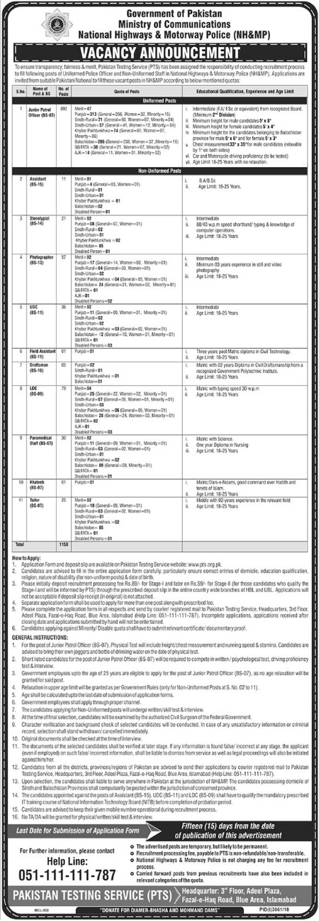 Ministry of Communications Assistant Jobs 2019