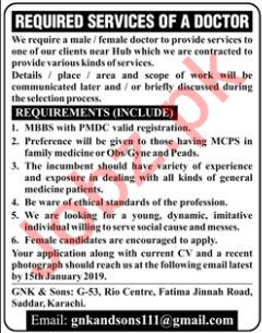 Doctor Jobs at GNK and Sons