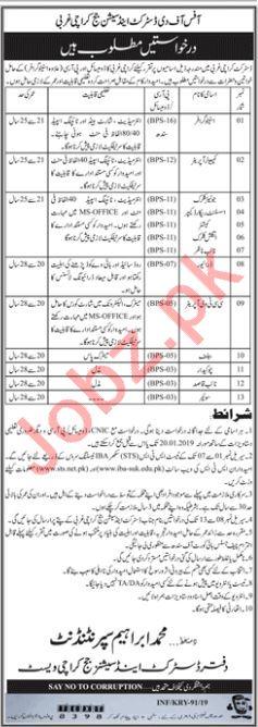 District and Session Judge Karachi Stenographer Jobs
