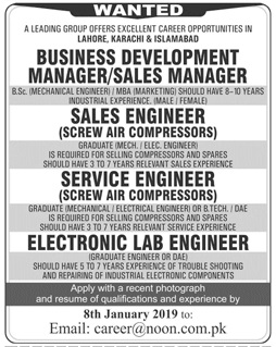 Business Development Manager Jobs at Noon International Ltd